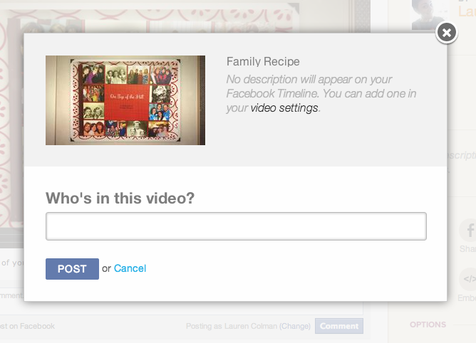 Tagging Animoto Video for Facebook