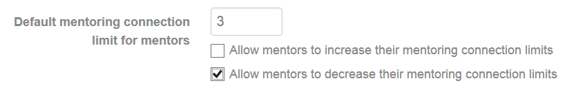 Change mentor connection settings